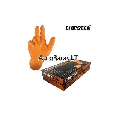 GRIPSTER guminės darbo pirštinės atsparios cheminėm medžiagom - ilgai tarnaujančios pirštinės 4