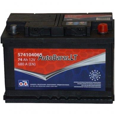 AD akumuliatorius 74Ah 680A