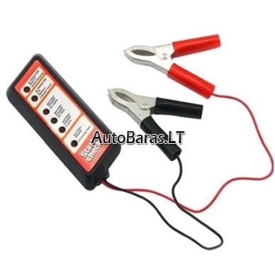 Akumuliatoriaus baterijos ir generatoriaus testeris skaitmeninis 12V