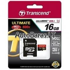 Atminties kortelė - Transcend Ultimate micro SDHC su adapteriu 16gb 10class UHS1 class 90mb/s 600x