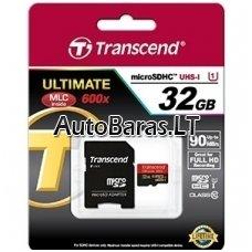 Atminties kortelė - Transcend Ultimate micro SDHC su adapteriu 32gb 10class UHS1 class 90mb/s 600x