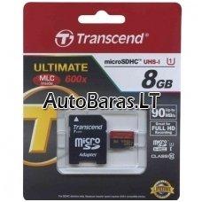 Atminties kortelė - Transcend Ultimate micro SDHC su adapteriu 8gb 10class UHS1 class 90mb/s 600x