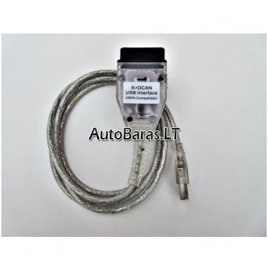 BMW INPA su jungikliu FT232RL - diagnostikos kabelis