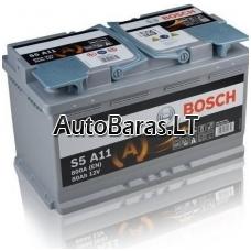 Bosch S5A11 AGM 80Ah 800A akumuliatorius
