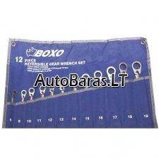 BOXO terkšlinių raktų rinkinys 12vnt (8-19mm)
