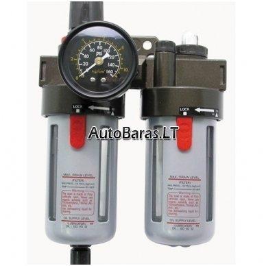 CAMRY reguliuojamas kondensato filtras / separatorius  su tepaline oro kompresorio sistemai