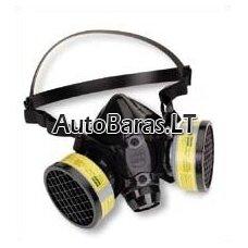 Dažymo respiratorius -  puskaukė -  daugkartinis su keičiamais filtrais dvigubais FFP2 KN95