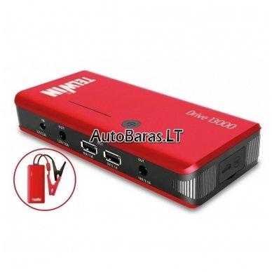 Daugiafunkcinis įkroviklis - paleidėjas 12V 800A 12Ah TELWIN Drive 13000 4