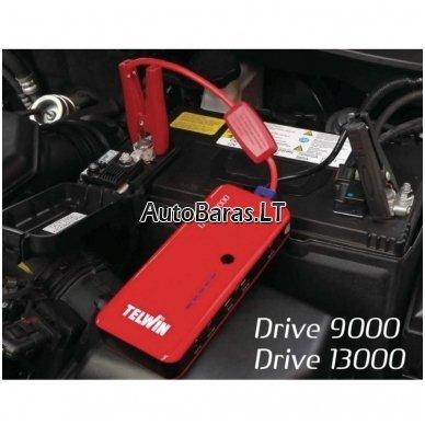 Daugiafunkcinis įkroviklis - paleidėjas 12V 800A 12Ah TELWIN Drive 13000 6