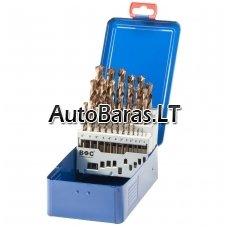Grąžtų metalui rinkinys HSS DIN338 19vnt. (1-10mm) (cobalt)