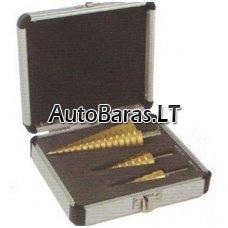 Grąžtų pakopinių rinkinys 3vnt. (4-30mm)