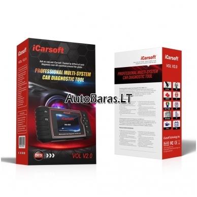 iCarsoft VOL V2.0 profesionalus diagnostikos įtaisas VOLVO / SAAB 2