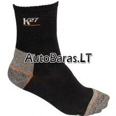 K27 Darbo kojinės. Sudėtis: 80% medvilnė, 15% nailonas, 5% elastanas. Dydis 43-45