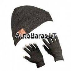 K27 Išmanioji žieminė kepurė su pirštinėmis bluetooth ausinės ir laisvų rankų įranga. Pirštinės touchscreen.