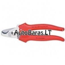 KNIPEX dvigubų ašmenų kabelių žirklės, 165 mm