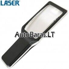 LASER padidinimo stiklas su LED pašvietimu
