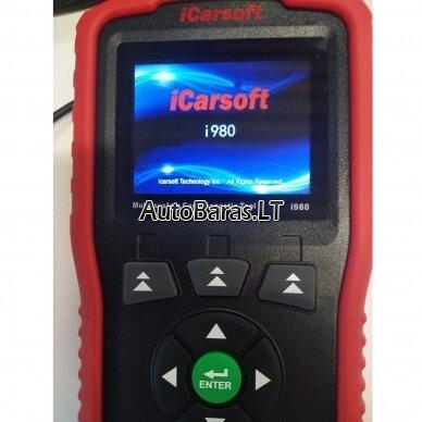 Mercedes-Benz iCarsoft i980 diagnostikos įtaisas 5