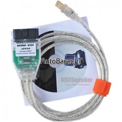 Mini VCI 16 Pin OBD2 TOYOTA / LEXUS diagnostikos kabelis