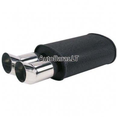 MUFFLEX - plokščio tipo su dvigubais antgaliais užriestais juodas Nr.22