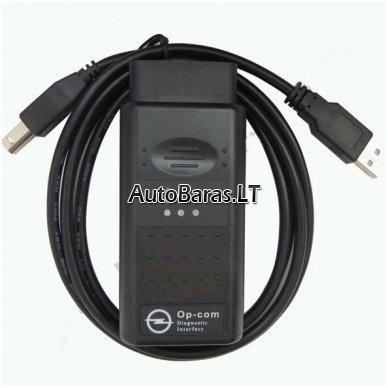 OPEL / SAAB diagnostikos kabelis OP-COM V1.59