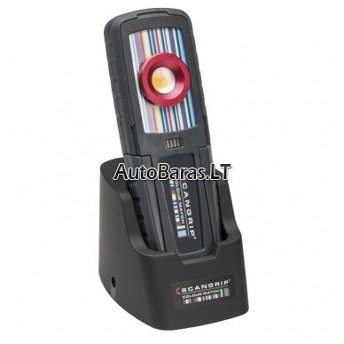 Pakraunamas LED šviestuvas spalvų suderinimui SCANGRIP SUNMATCH