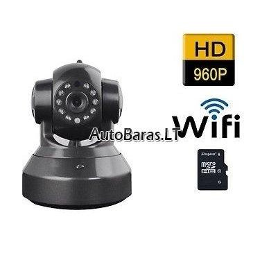 Patalpų stebėjimo kamera IP HD960p su Wifi + 64gb SONY 90mb/s atminties kortelė 3