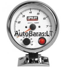 Pilot GAUGE - matuoklis / gauge - Tachometras (benzininiams) 95 mm su signaline lempute (shift light)