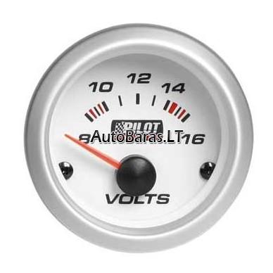 Pilot GAUGE - matuoklis / gauge - Elektros įtampos matuoklis / Voltmetras 52 mm