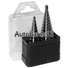 Platinimo eglučių pakopinių grąžtų rinkinys, 4-12(1mm) ir 4-20(2mm)