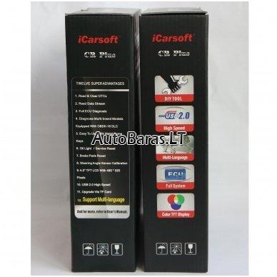 Profesionalus iCarsoft CR PLUS diagnostikos įtaisas 4