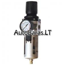 Reguliuojamas kondensato filtras / separatorius oro kompresorio sistemai