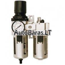 Reguliuojamas kondensato filtras / separatorius su tepaline oro kompresorio sistemai