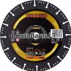 RHODIUS ALLCUT universalus metalinis pjovimo diskas 230mm 2,8X22,2