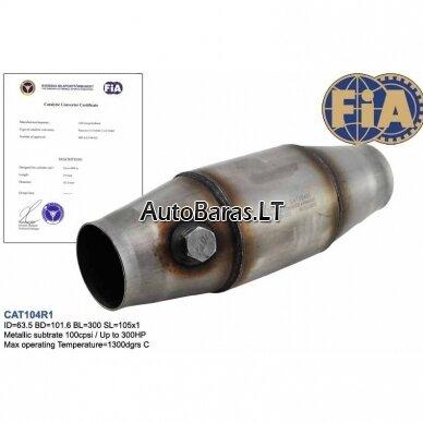 Sportinis nerūdijančio plieno katalizatorius su FIA sertifikatu 2
