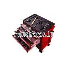 BIG RED Įrankių spintelė su įrankiais, su ratukais TBR3007BX + 12 padėklų su įrankių rinkiniais