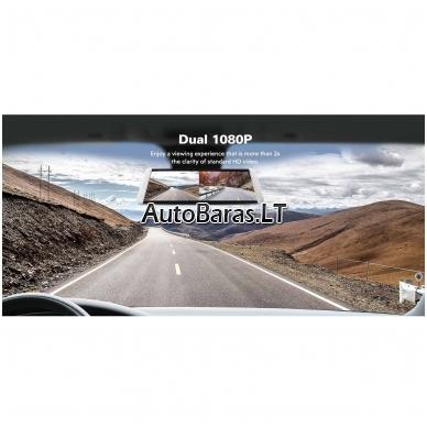 Veidrodžio tipo vaizdo registratorius BLACKVIEW HS790B WIFI su papildoma kamera ir liečiamu ekranu 6