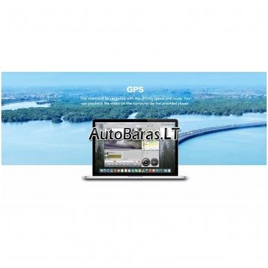 Veidrodžio tipo vaizdo registratorius BLACKVIEW HS790B WIFI su papildoma kamera ir liečiamu ekranu 7