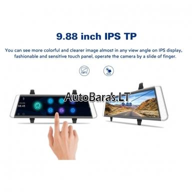 Veidrodžio tipo vaizdo registratorius BLACKVIEW HS790B WIFI su papildoma kamera ir liečiamu ekranu 3