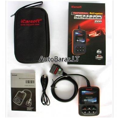 VW / AUDI / SKODA / SEAT iCarsoft i908 diagnostikos įtaisas 12
