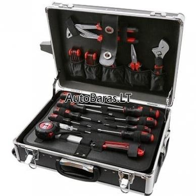 XL 126 dalių įrankiu lagaminas/vežimėlis